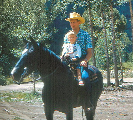 Don and Diane on horseback adj