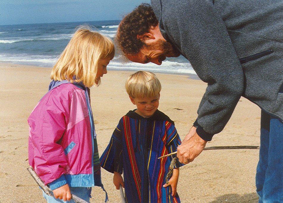 teaching at the beach '93